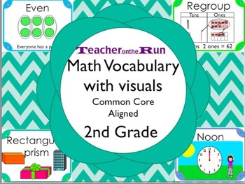 Math Vocabuary with visuals and common core aligned (2nd grade)