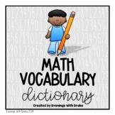 Math Vocabulary Personal Dictionary