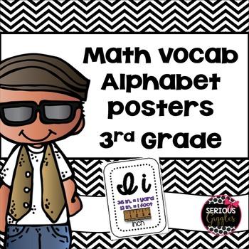 Math Vocabulary Alphabet Cursive 3rd Grade Blank