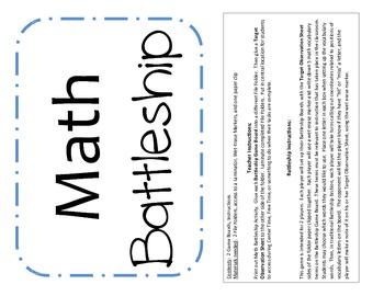 Math Vocabulary Battleship