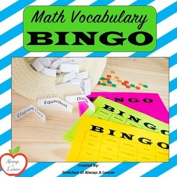 Math Vocabulary Bingo