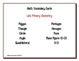Math Vocabulary Cards: Primary Geometry