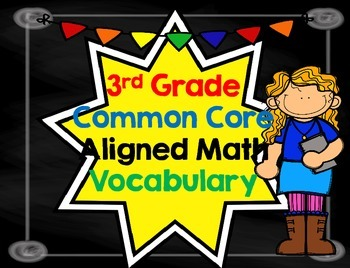 Math Vocabulary Common Core Aligned