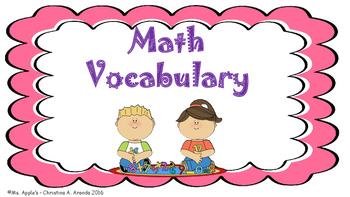Math Vocabulary Flash Cards