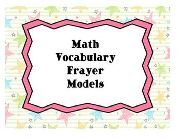 Math Vocabulary - Frayer Models