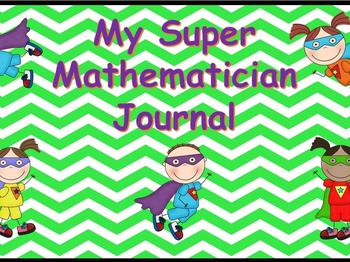 Math Vocabulary Journal-Super Mathmatician