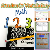Math Academic Vocabulary Journal and Word Wall