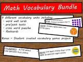 Math Vocabulary Packet Bundle