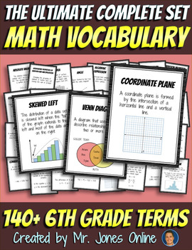 Math Word Wall Vocabulary Posters: Grade 6 - the Ultimate
