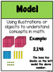 Math Vocabulary Posters and Word Wall for Numbers in Base Ten