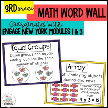 Vocabulary Posters for Multiplication & Division  Engage N