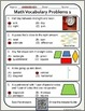 Math Vocabulary Words Practice and Review Worksheets for 2