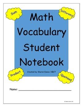 Math Vocabulary Template