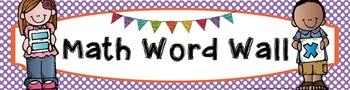 Math Word Wall Banner - Polka Dot