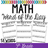Math Vocabulary Word of the Day (5th Grade)
