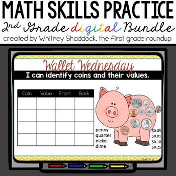 Calendar Math Wall Year Long 2nd Grade BUNDLE & SAVE!
