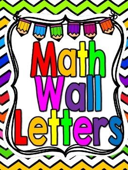 Freebie-Math Wall Pennant Letters-Bright