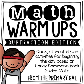 Subtraction Math Warm Ups