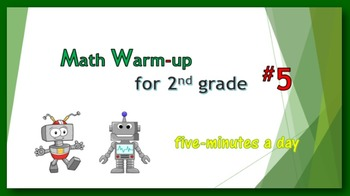 Math Warm-up for 2nd grade #5