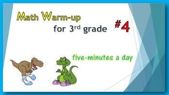 Math Warm-up for 3rd grade #4