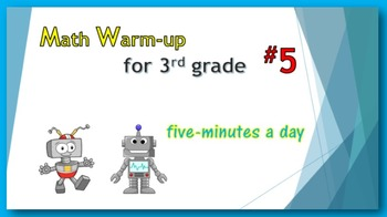 Math Warm-up for 3rd grade #5