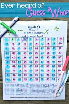 Math Who? Vocabulary Game