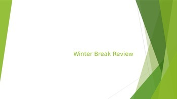 Math Winter Break Review