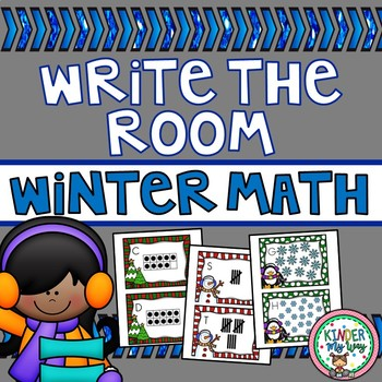 Winter Write the Room - Math