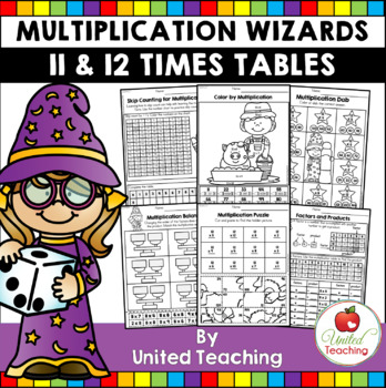 Math Wizards Multiplication 11 and 12 Times Tables