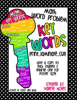 Math Word Problem Key Words