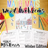 Math Word Problem Story Mats - Winter