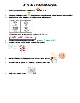 Math Word Problem Strategies