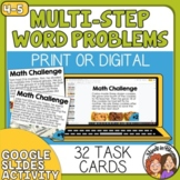 Word Problems Task Cards: Multi-Step Math Stories