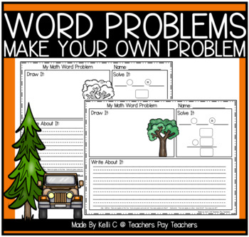 Word Problem Templates to Practice Writing Word Problems a