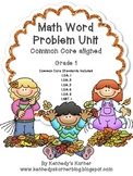 Math Word Problem Unit ~Common Core Aligned for Grade 1