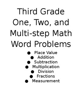 Math Word Problems...for the ENTIRE year!
