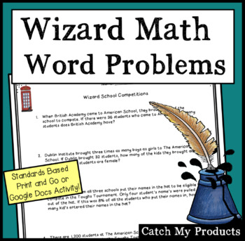 Math Word Problems to Accompany Harry Potter and the Goble
