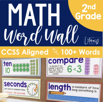 Math Word Wall 2nd Grade {Common Core Aligned}