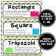 Math Word Wall 3rd-6th Grade BUNDLE - Rainbow Colors