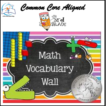 Math Word Wall (3rd Grade) - 164 Cards