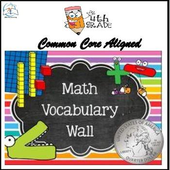 Math Word Wall 1 (4th Grade)