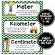 Math Word Wall Cards (5th Grade - Chevron)