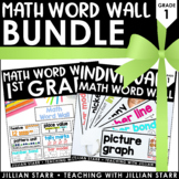 Math Word Wall Bundle: Grade 1