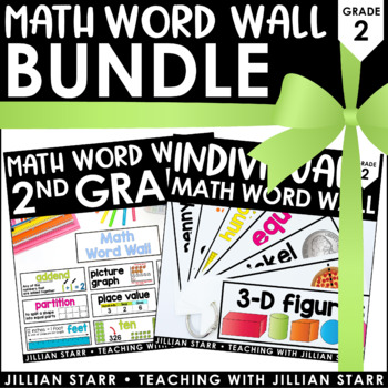 Math Word Wall Bundle: Grade 2
