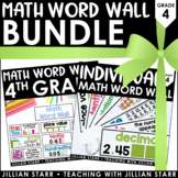 Math Word Wall Bundle: Grade 4