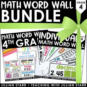 Math Word Wall Bundle: Grade 4