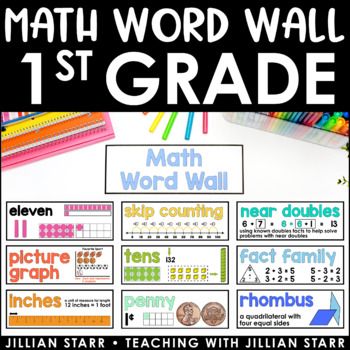 Math Word Wall- Grade 1 (Common Core Aligned)