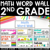 Math Word Wall- Grade 2 (Common Core Aligned)