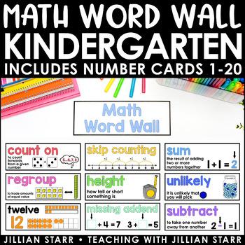 Math Word Wall- Kindergarten (Common Core Aligned)