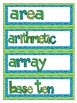 Math Word Wall - Grade 4